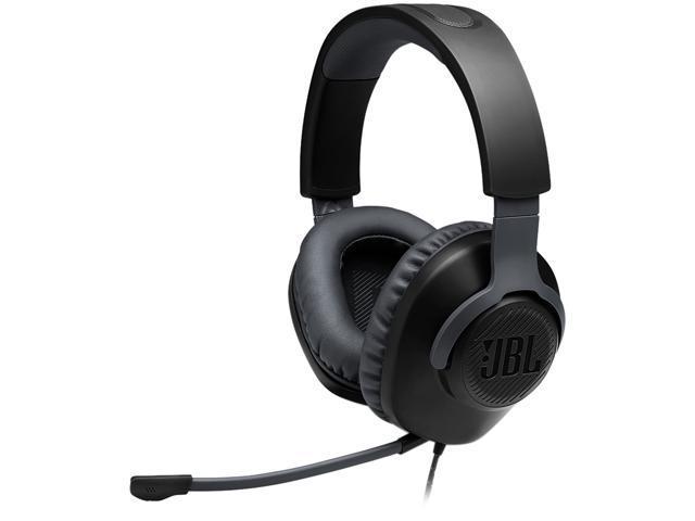 JBL QUANTUM 100 Circumaural Gaming Headset, Black