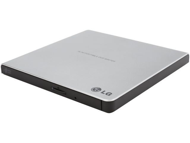 LG External CD / DVD Rewriter With M-Disc Mac & Surface Support (Silver) - Model GP65NS60