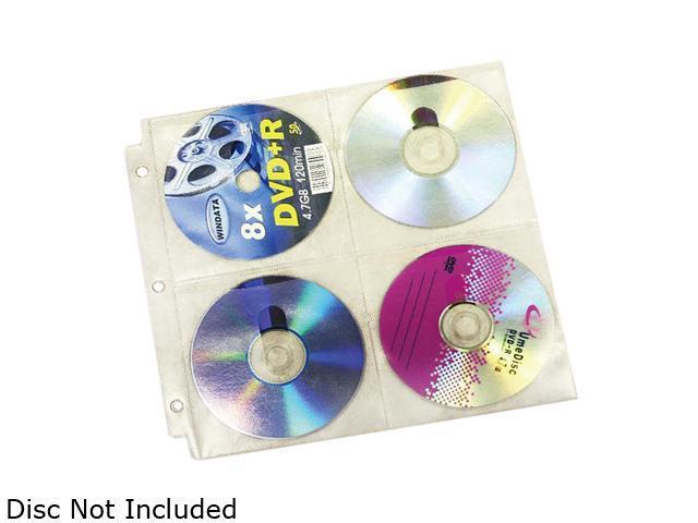 inland 2855 u jam cd dvd 3 ring binder sleeve 25 pack newegg com