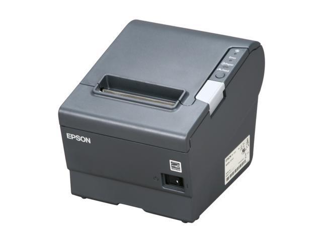 epson tm t88v pos thermal receipt printer dark gray c31ca85084