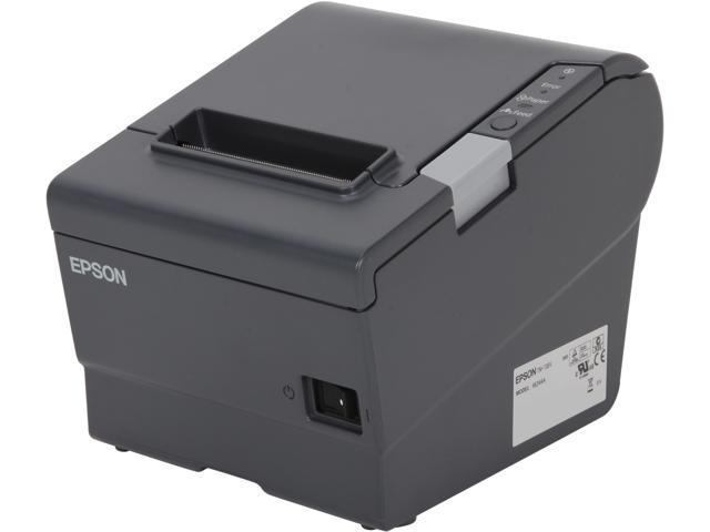 epson tm t88v pos thermal receipt printer dark gray c31ca85090