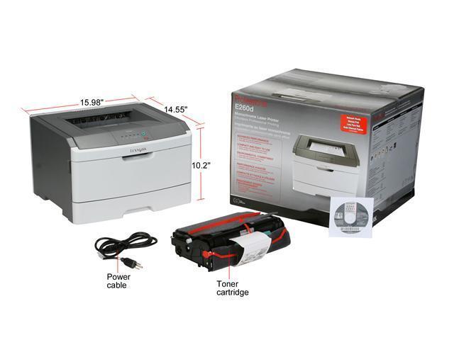 Lexmark E Series E260dn Workgroup Up to 35 ppm Monochrome Laser Printer -  Newegg com