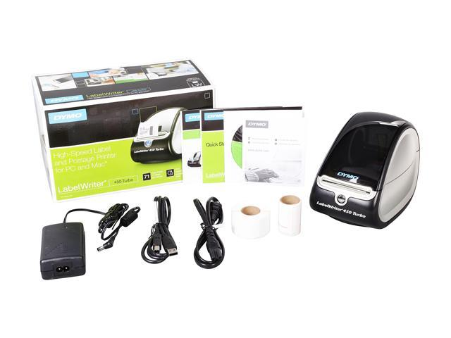 DYMO LabelWriter 450 Turbo High-Speed Postage and Label Printer for PC and  Mac (1752265) - Newegg com
