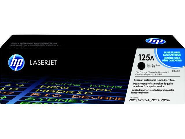 2 Pack Black Toner Cartridge Compatible for CB540A HP Color LaserJet CP1215
