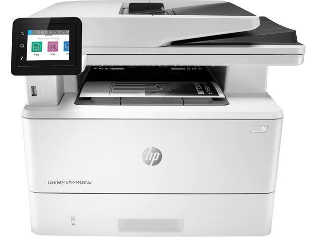 Hp Laserjet Pro M428fdw W1a30a Auto Duplex Wireless Usb Monochrome All In One Mfp Laser Printer Newegg Com