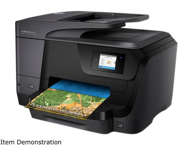 Used - Like New: HP OfficeJet Pro 8710 All-in-One Wireless Printer with  Mobile Printing, Instant Ink ready (M9L66A#B1H) - Newegg com