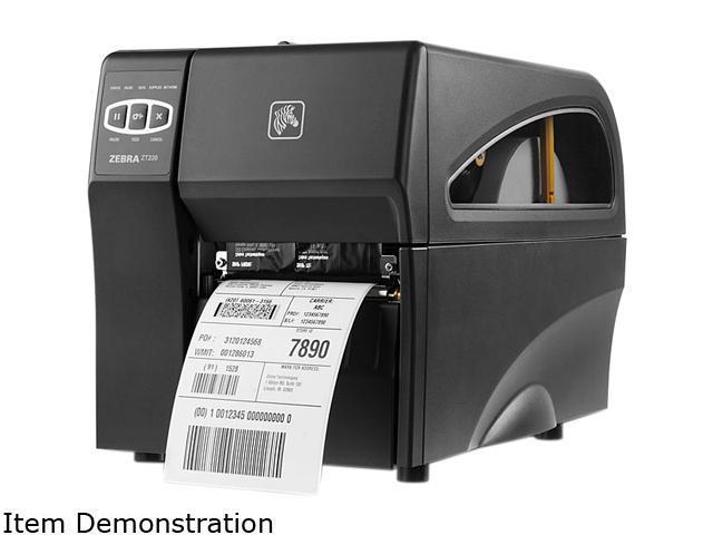 "Zebra ZT220 4"" Industrial Direct Thermal Label Printer, 203 dpi, Serial,  USB, Int 10/100, ZPL, EPL, EPL2, XML Support – ZT22042-D01200FZ -"