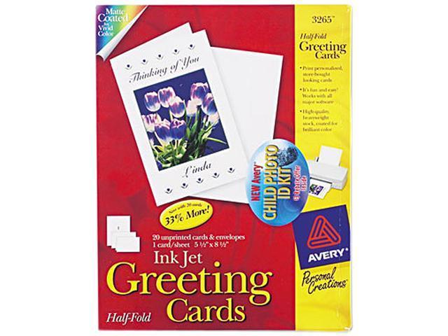 Half fold greeting cards inkjet 5 12 x 8 12 matte white 20box w half fold greeting cards inkjet 5 12 x 8 12 matte m4hsunfo