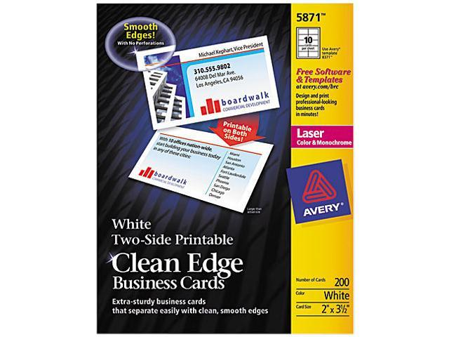 Avery 5874 Two Side Clean Edge Laser Business Cards 2 X 3 1