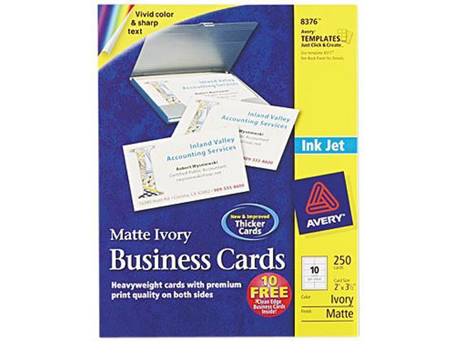 Avery 8376 inkjet matte business cards 2 x 3 12 ivory 10sheet avery 8376 inkjet matte business cards 2 x 3 12 ivory colourmoves