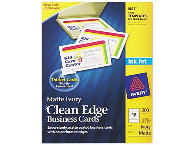 avery 8876 inkjet matte business cards 2 x 3 1 2 ivory 10 sheet