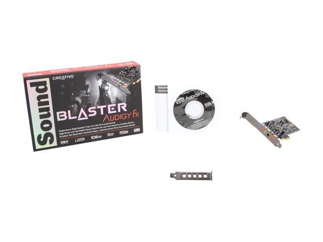 Creative Sound Blaster Audigy FX 5.1 PCIe Sound Card SBX Pro Studio 106dB SNR