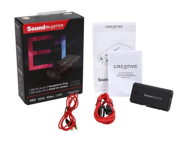 Creative Sound Blaster E1 USB Sound Card and DAC with Powered Headphone Amp  - Newegg com