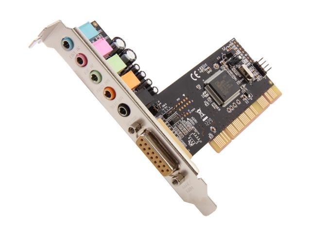 SYBA SD-PCI63058 6 Channels PCI Interface Audio Sound Card, with Game Port, 3D Sound Quality for 5.1 Speakers, C-Media CMI8738 Chipset