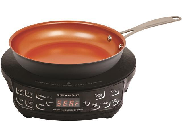 Nuwave Precision Induction Cooktop 45 Temperature Setting Includes 9 Frying Pan