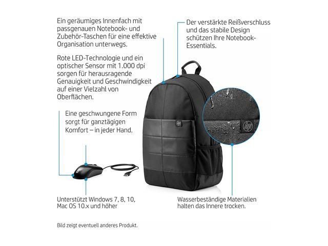 b41fa18cbf882d HP 1FK04AA#ABL 15.6 Classic Backpack & Mouse - Newegg.com