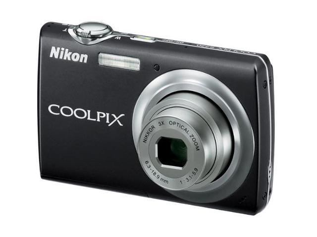Nikon COOLPIX S220 Graphite Black 10.0 MP 3X Optical Zoom Digital Camera