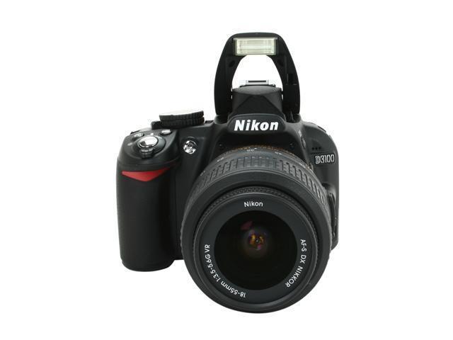 Nikon D3100 14 2MP Digital SLR Camera with 18-55mm f3 5-5 6 AF-S DX VR  Nikkor Zoom Lens - Newegg com