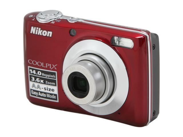 Nikon Coolpix L24 Red 14 0 Mp Digital Camera Newegg Com