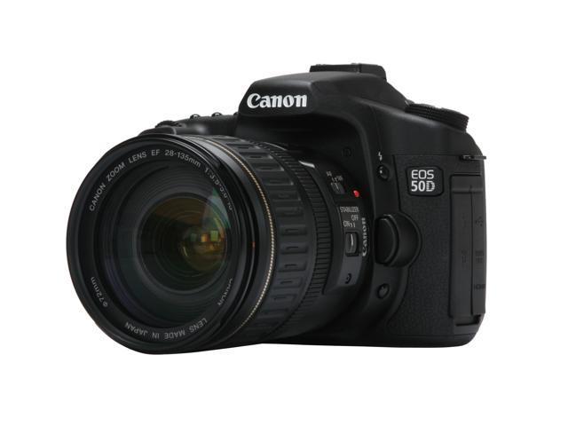 Canon EOS 50D Black 15 1 MP Digital SLR Camera w/ EF 28-135mm f/3 5-5 6 IS  USM Lens - Newegg com