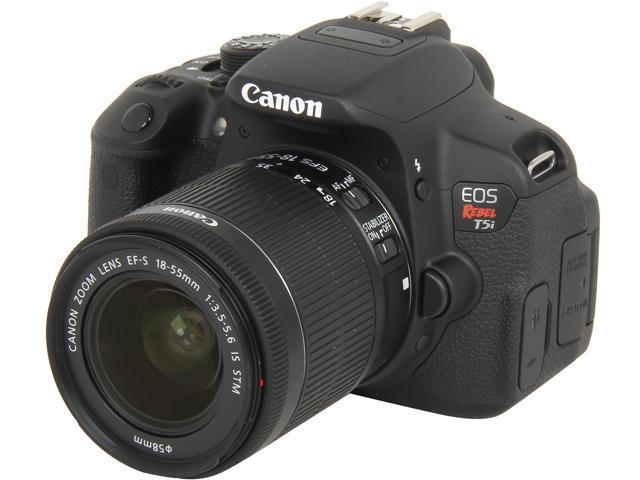 Canon Eos Rebel T5i 8595b003 Black 18 0 Mp Digital Slr Camera With 18 55mm Is Stm Lens