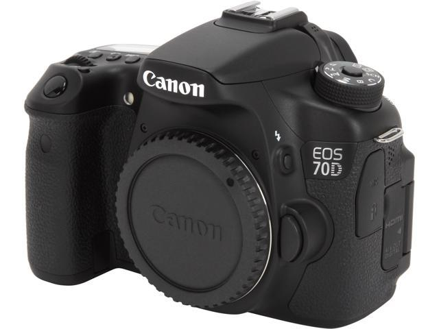 Canon eos 70d 8469b002 digital slr cameras black 20 2 mp digital slr camera