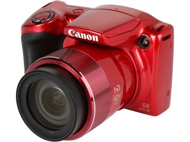 51b0076d3f4cf Canon PowerShot SX420 IS Digital Camera (red) - Newegg.com