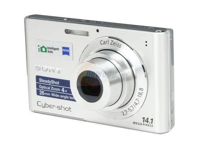 SONY Cyber-shot DSC-W330 Silver 14 1 MP 4X Optical Zoom 26mm Wide Angle  Digital Camera - Newegg com