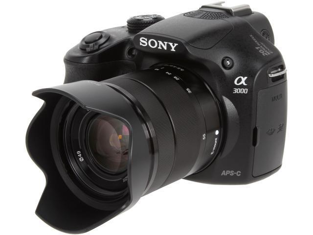 SONY Alpha A3000 ILCE-3000K/B ILCE3000K/B Black Interchangeable Lens  Digital Camera with 18-55mm Lens - Newegg com