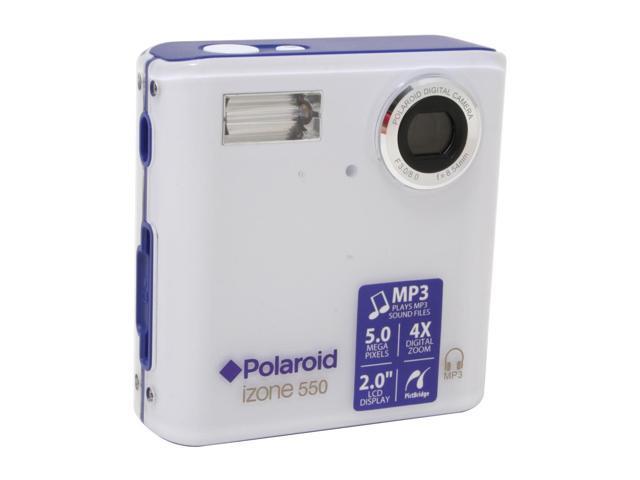 Polaroid izone 550 Blue/Silver 5 0 MP Digital Camera - Newegg com