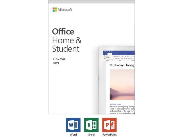 Microsoft Office Home and Student 2019   1 device, Windows 10 PC/Mac Key  Card - Newegg com