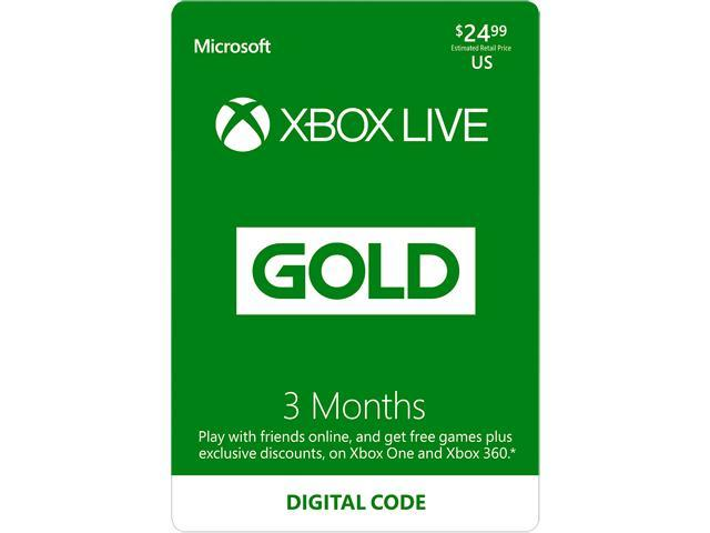 Xbox LIVE 3 Month Gold Membership US (Digital Code) - Newegg com