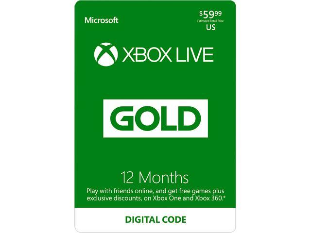 Xbox LIVE 12 Months Gold Membership US (Digital Code)
