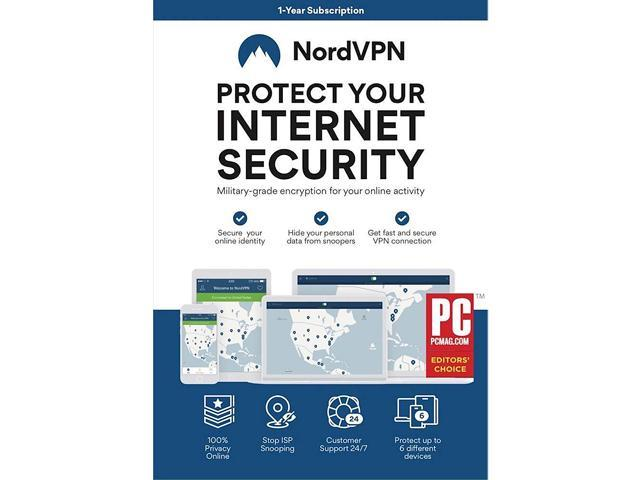 NordVPN Internet Security and Privacy Software for  Windows/MacOS/Android/iOS - 6 Devices - 12 month VPN Subscription - OEM -  Newegg com
