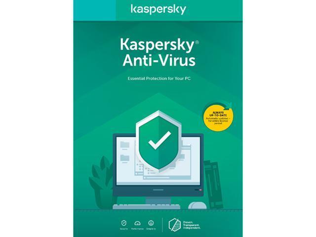 Best Anti Virus 2020.Kaspersky Anti Virus 2020 1 Device 1 Year Key Card