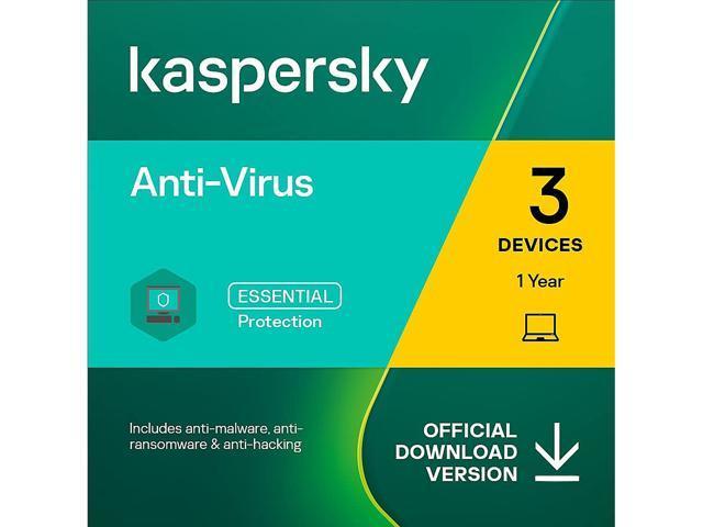 Kaspersky Anti-Virus 2021 1 Year / 3 Device - Download