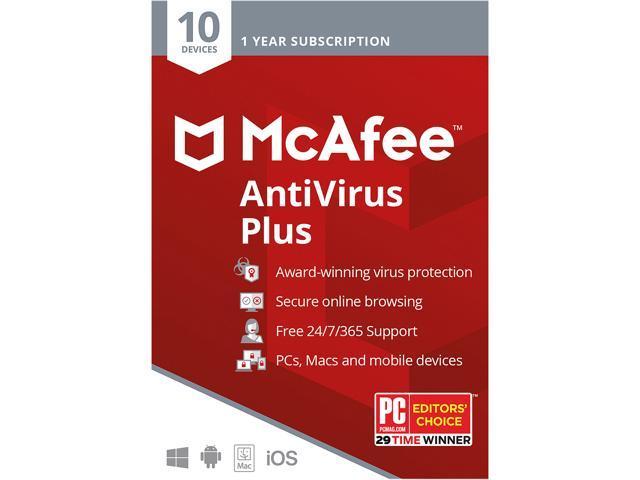 McAfee Antivirus Plus (10 Devices / 1 Year)