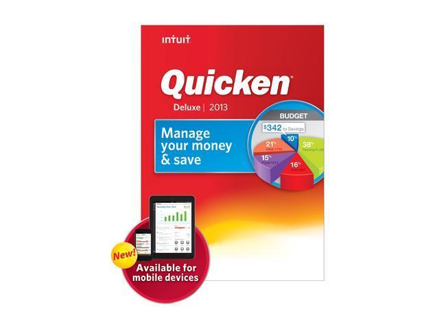 Intuit Quicken Deluxe 2013 Software - Newegg com