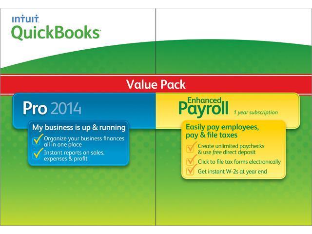 Intuit QuickBooks Pro w/ Enhanced Payroll 2014 - Download - Newegg com