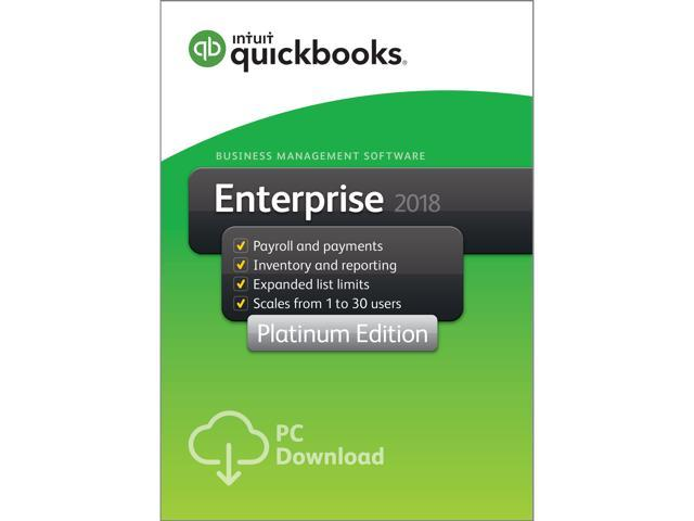Intuit QuickBooks Desktop Enterprise Platinum 2018 - 4 User - Download (1  Year Subscription) - Newegg com
