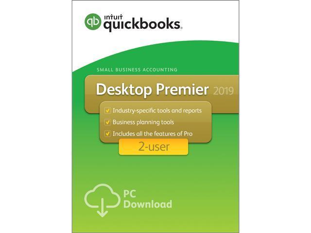 Intuit QuickBooks Desktop Premier 2019 2 User - Download - Newegg com