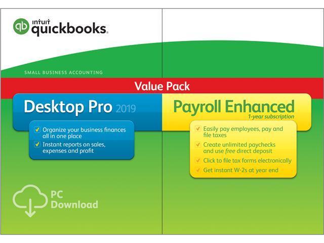 Intuit QuickBooks Desktop Pro with Enhanced Payroll 2019 - Download -  Newegg com