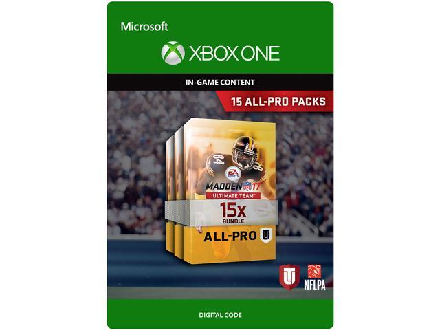 madden nfl 17 15 all pro pack bundle xbox one digital code