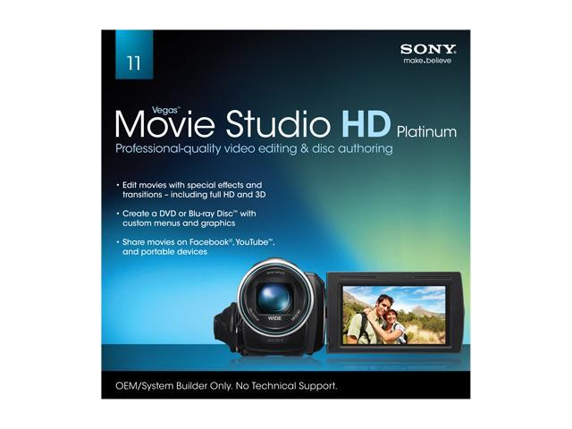 Buy OEM Sony Vegas Movie Studio HD Platinum 11