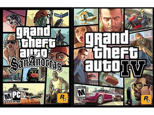 GTA IV/ GTA SA Bundle [Online Game Code] - Newegg com