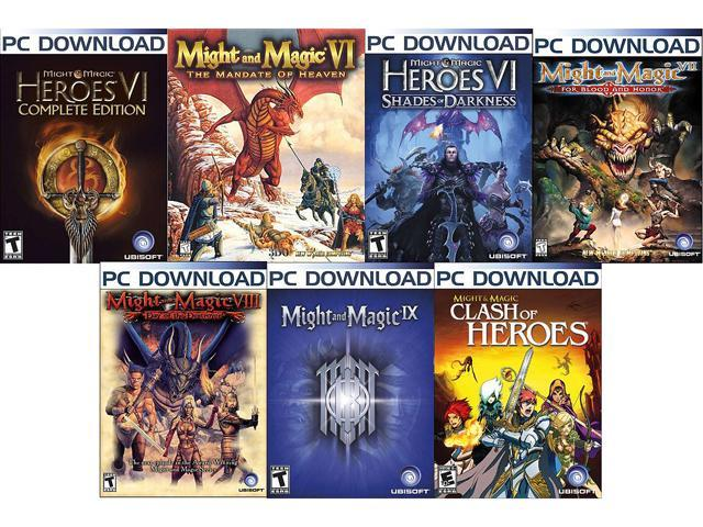 Might & Magic Power Pack (VI, VII, VIII, IX, Clash of Heroes, Mandate of  Heaven, Shades of Darkness) [Online Game Codes] - Newegg com