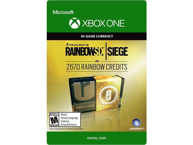 Tom Clancy's Rainbow Six Siege Currency pack 2670 Rainbow credits Xbox One  [Digital Code] - Newegg com