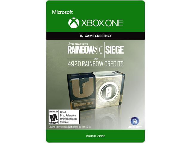 Tom Clancy's Rainbow Six Siege Currency pack 4920 Rainbow credits Xbox One  [Digital Code] - Newegg com