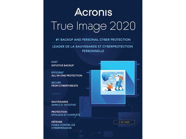 Acronis True Image 2020 5 Pc Mac Newegg Com