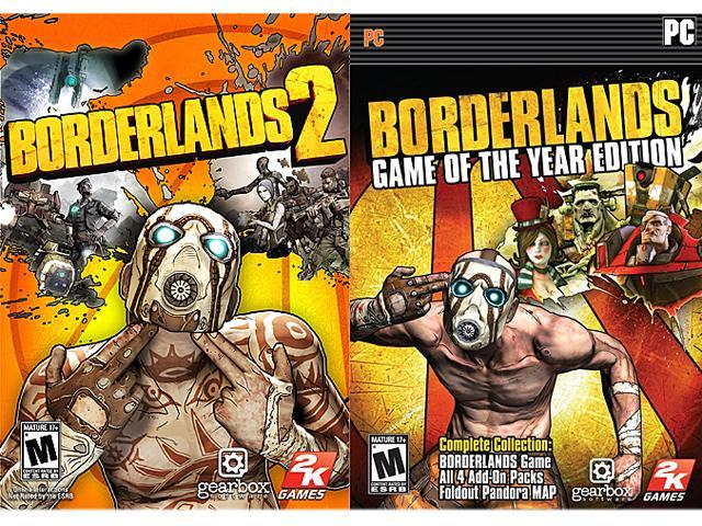 Borderlands 2 + Borderlands: Game of the Year Bundle Pack [Online Game Codes]